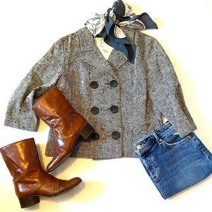 Vintage | Herringbone Tweed Double Breasted Jacket